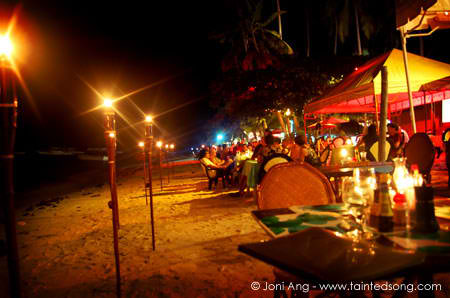Alona Beach at Night - Magical!