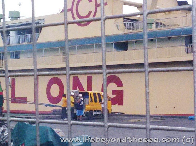 Finally!  My stuff gets loaded onto the ship bound for Bohol.